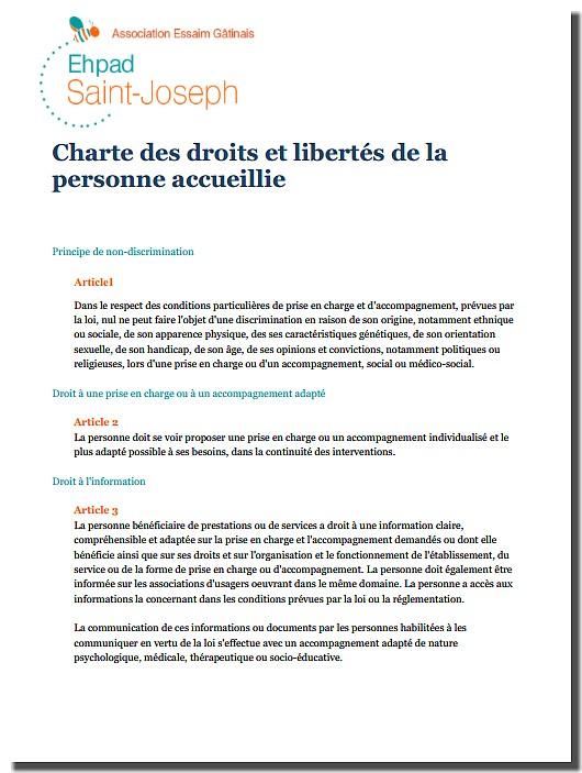 Charte des droits