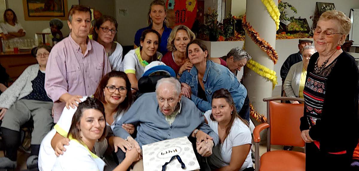 Les 100 ans d'un résident